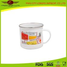 Taza de esmalte caliente de la venta con la mano del esmalte