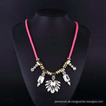 Mode Punk Imatation Diamant Große Kristall Halskette