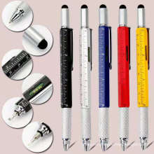 2021 Hot Selling 6 in 1 Top Touch Ball Pen With Level And Screwdriver Horizontal Measure Ruler Multi Function Tool Pens