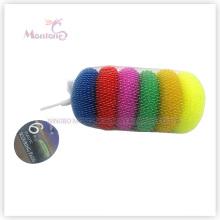 Dia. 7cm Pot Dish Mesh Scourer Plastic Cleaning Ball