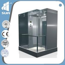Speed 1.0m / S Sala de Máquinas Aço Inoxidável e Vidro Elevador Panorâmico
