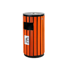 Reciclaje de madera ecológica cubo de basura de basura de basura exterior (A13280)