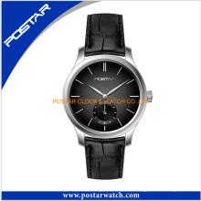 Moda resistente à água de quartzo relógio de pulso preço de fábrica dos homens wtch
