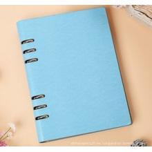 Cuaderno de bolsillo, logotipo impreso del cuaderno del diario de cuero