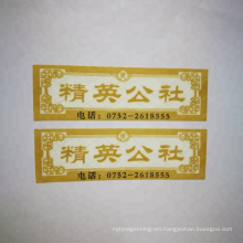 Easy destroyed one time use fragile anti-counterfeiting hologram label sticker