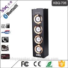 BBQ KBQ-706 Metal attanna FM radio 40W wood bluetooth speakers with remote