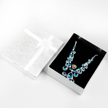 Rigid cardboard necklace jewerly gift box