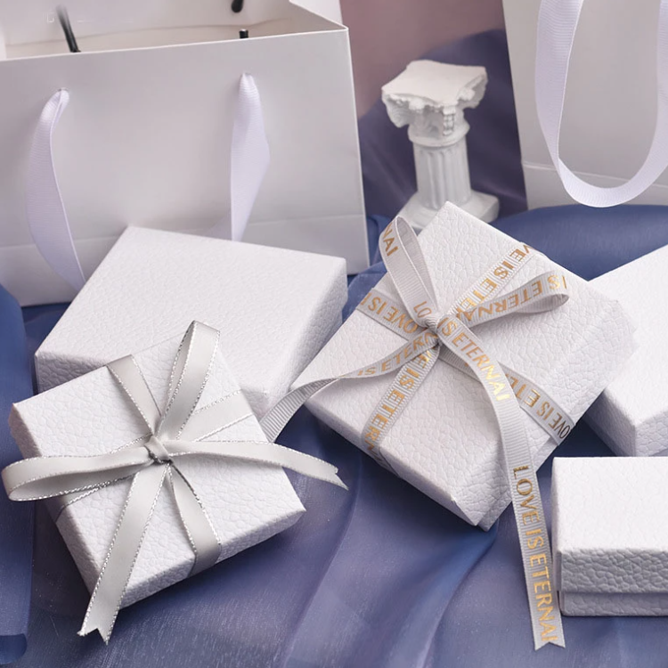 White Texture Jewelry Set Gift Box 1 Png