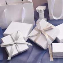 Подарочная Коробка Набор Ювелирных Изделий Белой Текстуры