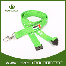 Polyester custom logo silk screen printing festival lanyards