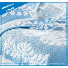 Blue Coral Printed Polyester Quilted Bedding Set