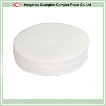 Rondes de papier de parchemin de silicone de non-bâton de diamètre de 8 pouces pour l'étain