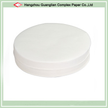 O papel de pergaminho Non-Stick do silicone do diâmetro de 8 polegadas arredonda-se para a lata