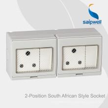 Commutateur Saipwell de haute qualité pour montage en surface et prise de courant pour l'Afrique du Sud