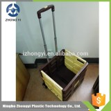 Hot sale go cart for vegetable shopping , folding go cart , plastic hand carts with wheels