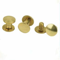 Brass Plated Steel  Binding Post Book Screw