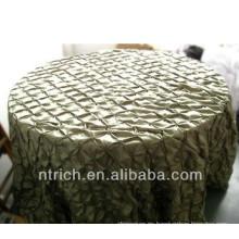 Baratos de boda manteles tafetán pinwheel, cubierta de tabla