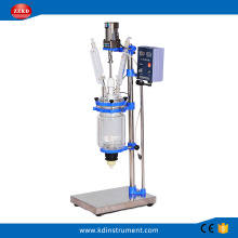 3L+Jacketed+Chemical+Glass+Polymerization+Reactor