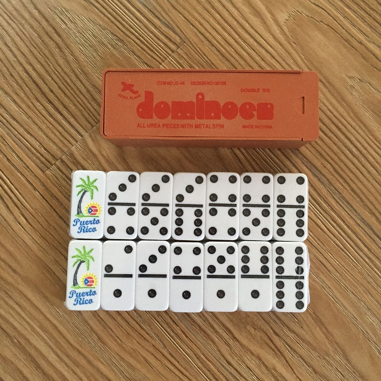 engraved logo dominoes