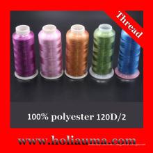 100 % polyester 120D/2 fil de broderie