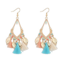 Fashion Models Show Long Tassels Bohemian AlloyJewelry Earring