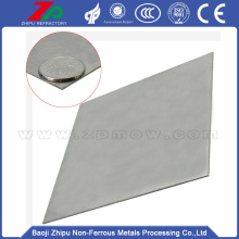 Popular Design for for High Purity Molybdenum Plate 99.95% polished molybdenum plate for sale supply to Saudi Arabia Exporter