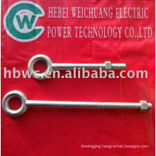 galvanized steel eye bolts for cable installation