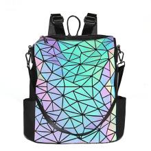 2020 New Laser PU Women Diamond Lattice Bags Women Handbags Small Geometric Chain Shoulder Sling Bags Reflective Women Bag