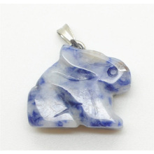 Rabbit Shape Sodalite pendant