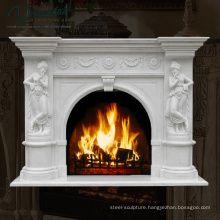 2018 New Carved Large White Marble Fireplace Mantel Carving (Factory Direct))