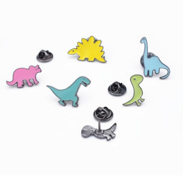 Cartoon Emalj Brosch Pins Set för Unisex