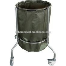 Carretilla sucia de acero inoxidable de una sola bolsa
