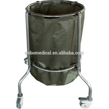 single bag stainless steel soiled trolley