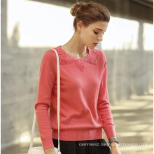 Women′s Cashmere Sweater with Round Neck (13brdw135-1)