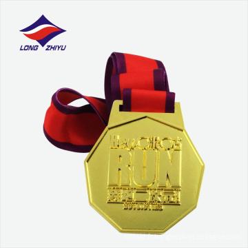 Vente en gros de médailles d'or brillantes de style chinois