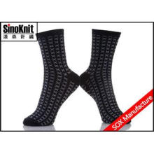 OEM Cotton Black And Grey Knitting Man Casual Socks Soft an
