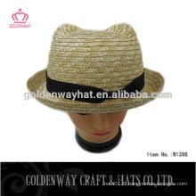 Chapeau personnalisé à paille avec design Bear