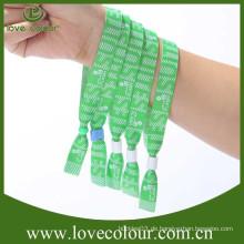 Top Verkauf Stoff Wristband mit benutzerdefinierten Logo