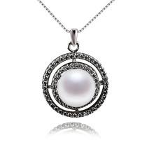 Großer Luxery 925 Sterling Silber Perlen Anhänger