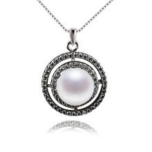 Large Luxery 925 Sterling Silver Pearl Pendant
