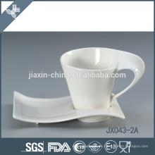 043-2A32 180CC taza y platillo de café de cerámica
