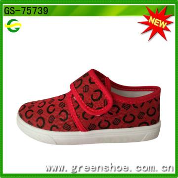 Дети холст обувь мода лучшие продажи Производитель обуви ПВХ