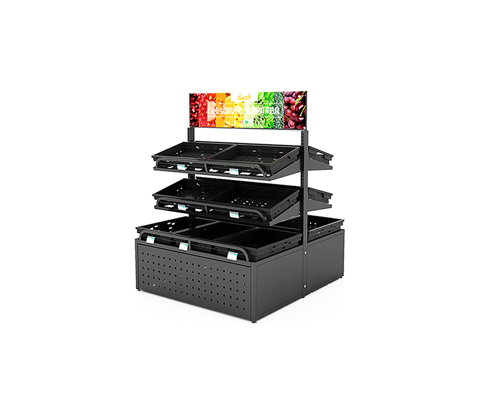 Double Sided Fruit Display Stand