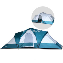 Double Layered Two Rooms One Hall Tents, 6 Person Tent