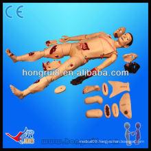 ISO Advanced medical nursing trauma manikin,wound model