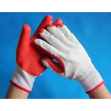 Borracha natural revestido de algodão luvas preço de fábrica à venda