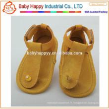 Chaussures en cuir véritable en cuir doux pour bébé