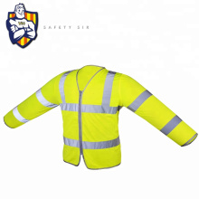 EN20471 High quality color matching reflective safety vest traffic safety vest long sleeve with good quick-dry