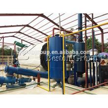 Sistema de refinación de pirólisis de plástico de desecho de acero Q345R para convertir plástico en aceite