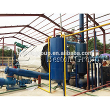 Sistema de refino de pirólise de plástico de resíduos de aço Q345R para converter plástico em óleo